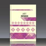 Abstracte samenstelling, veelhoekige ruitbouw, vierkante blokken, diamantvakje oppervlakte, kristalfacetten, a4 brochure Vector Illustratie