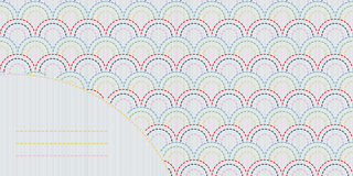 Abstracte sashikoachtergrond met exemplaarruimte voor tekst Royalty-vrije Stock Afbeelding