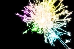 Abstracte scène van het kleurrijke vuurwerk Stock Afbeeldingen