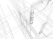 Abstracte scetch architecturale bouw Royalty-vrije Stock Foto's