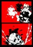 Abstracte schedel als achtergrond Stock Foto