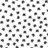 Abstracte schetsmatige bloemenelementen op witte achtergrond royalty-vrije stock afbeelding