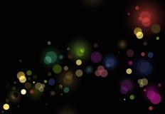 Abstracte schitterende lichtenachtergrond Stock Afbeelding