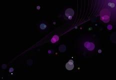 Abstracte schitterende lichtenachtergrond met golven Royalty-vrije Stock Afbeeldingen
