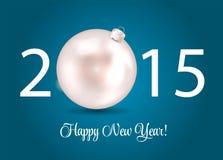 Abstracte Schoonheid 2015 Nieuwjaarachtergrond Vector Royalty-vrije Stock Afbeeldingen