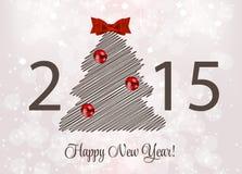 Abstracte Schoonheid 2015 Nieuwjaarachtergrond Vector Royalty-vrije Stock Fotografie