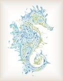 Abstracte Seahorse royalty-vrije illustratie