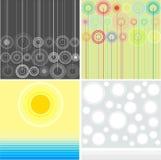Abstracte seizoenen vector illustratie
