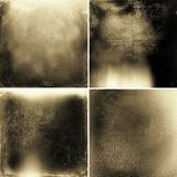 Abstracte sepia grunge texturen Stock Foto