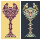 Abstracte sier bloemenboom Royalty-vrije Stock Fotografie