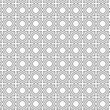 Abstracte Sier Dwars Naadloze Patroon Vectorillustratie Als achtergrond Royalty-vrije Stock Afbeeldingen