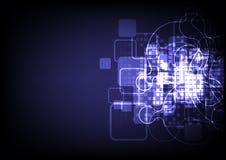 Abstracte signaalverbinding technologie het achtergrond van Internet Royalty-vrije Stock Foto's