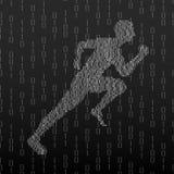 Abstracte silhouet lopende mens Royalty-vrije Stock Afbeelding