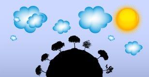 Abstracte Silhouetboom Vector illustratie Stock Foto's