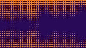 Abstracte sinaasappel en purle duotoneachtergrond Halftone textuur In gradiënt blauwe en purpere textuur stock illustratie