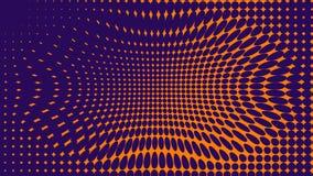 Abstracte sinaasappel en purle duotoneachtergrond Halftone textuur In gradi?nt blauwe en purpere textuur royalty-vrije illustratie