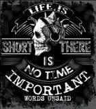 Abstracte slogan zwart-witte grafisch voor maniergebruik Stock Fotografie