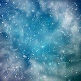 Abstracte sneeuwachtergrond vector illustratie