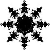 Abstracte sneeuwvlok Royalty-vrije Stock Afbeelding