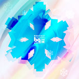 Abstracte sneeuwvlokken als achtergrond voor ontwerp Royalty-vrije Stock Afbeelding