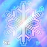 Abstracte sneeuwvlokken als achtergrond voor ontwerp Stock Afbeelding