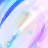 Abstracte sneeuwvlokken als achtergrond voor ontwerp Stock Afbeeldingen