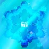 Abstracte sneeuwvlokken als achtergrond voor ontwerp Royalty-vrije Stock Fotografie