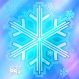 Abstracte sneeuwvlokken als achtergrond voor ontwerp Royalty-vrije Stock Afbeeldingen
