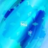 Abstracte sneeuwvlokken als achtergrond voor ontwerp Royalty-vrije Stock Foto