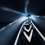 Abstracte snelheidstunnel Stock Afbeelding