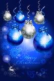 Abstracte snuisterijboom van de decoratie van de Kerstmiskaart - vectoreps10 Royalty-vrije Stock Afbeeldingen