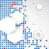 Abstracte spatie Het art Vector stock illustratie