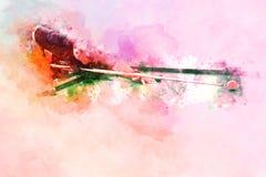 Abstracte speelsnookerwaterverf het schilderen achtergrond royalty-vrije stock fotografie