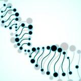 Abstracte spiraal van DNA Stock Afbeelding