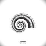 Abstracte spiraal of werveling Stock Afbeeldingen