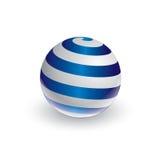 Abstracte spiraalvormige bal in 3d Royalty-vrije Stock Afbeeldingen