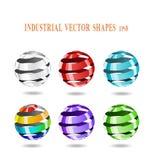 Abstracte spiraalvormige ballen. Stock Foto's