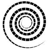 Abstracte spiraalvormige elementen Abstracte unieke werveling, draaivorm  stock illustratie