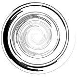 Abstracte spiraalvormige elementen Abstracte unieke werveling, draaivorm  vector illustratie