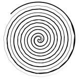 Abstracte spiraalvormige elementen Abstracte unieke werveling, draaivorm  royalty-vrije illustratie