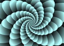 Abstracte spiraalvormige illuzion Stock Afbeelding