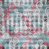 Abstracte spiraalvormige naadloze textuur met grungeeffect Royalty-vrije Stock Afbeeldingen