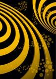 Abstracte spiraalvormige vectorillustratie als achtergrond Stock Afbeeldingen