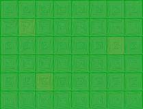 Abstracte spiralen groene achtergrond Royalty-vrije Illustratie