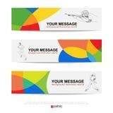 Abstracte sportbanner voor Websiteadvertenties Stock Foto
