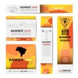 Abstracte sportbanner voor Websiteadvertenties Stock Afbeelding