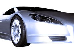 Abstracte Sportwagen Stock Afbeelding