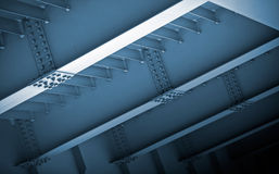 Abstracte staalbouw Stock Afbeeldingen