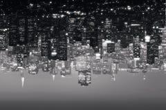 Abstracte stadsachtergrond vector illustratie
