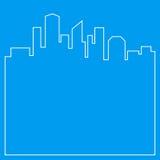 Abstracte stadsachtergrond Stock Afbeelding